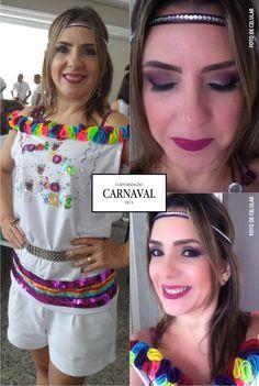 Customizando a camiseta para o carnaval