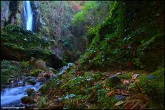 XOAN ARCO DA VELLA: FERVENZA DE PEDRAFIGUEIRA - CARNOTA Waterfall, River, Outdoor, Arch, Fantasy Landscape, Scenery, Waterfalls, Places To Visit, Modern Architecture