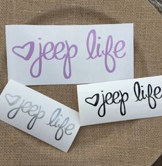 Jeep life decal phone decal car decal cup by PerfectlyUnperfectCo