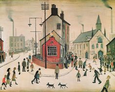 A Street in Clitheroe Art Print by L S Lowry at King & McGaw