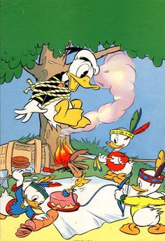 I love this piece of Hewey, Dewey, and Louie playing Cowboys and Indians. Poor Donald!