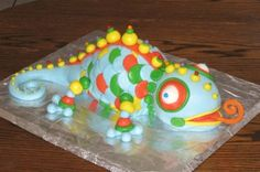 Image detail for -. on Sunday). Lindsey made him this very impressive lizard cake Lizard Cake, Colorful Cakes, Cakes For Boys, Sugar Art, Birthday Parties, Birthday Cakes, Birthday Ideas, Party Cakes, Cake Cookies