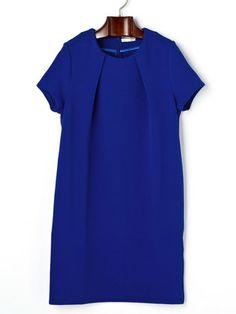 ROSIEE - GREENDALE GARNET stretch front tuck short sleeve dress