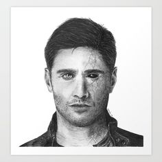 Demon!Dean Winchester, drawn by me. Buy it now!