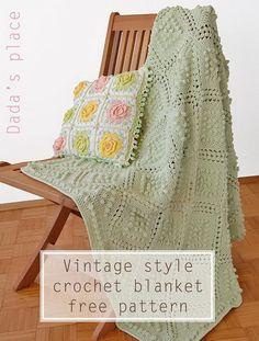 Vintage Style Crochet Blanket Pattern.