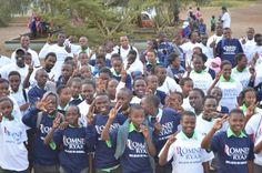 Serious irony going on here ... Kenyan children all smiles while wearing donated Romney/Ryan t-shirts [PHOTOS]