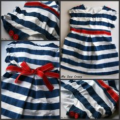 With today being President's Day I thought it would be fun to share a little red, white and blue with you… With 2 old white T-Shirts and the help of a little masking tape and fabric paint, you can have an adorable blue & white striped dress of your very own! Want to go all …