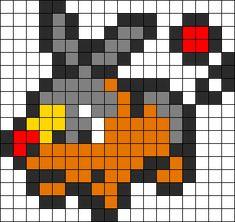 Kandi Patterns for Kandi Cuffs - Characters Pony Bead Patterns Perler Bead Pokemon Patterns, Pokemon Perler Beads, Melty Bead Patterns, Beading Patterns, Pichu Pokemon, Charmander, Image Pixel Art, Pokemon Cross Stitch, Pix Art