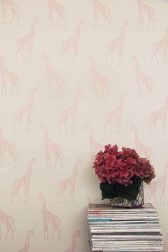 Abnormals Anonymous pink giraffe wallpaper