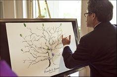 Fingerprint trees - made to order! $60-$100 Fingerprint Tree, Print Design, Frame, Behance, Trees, Wedding, Art, Picture Frame, Valentines Day Weddings