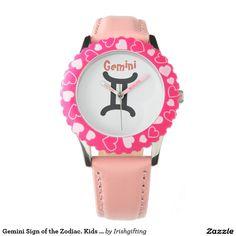 Gemini Sign of the Zodiac. Kids Watches. Watch