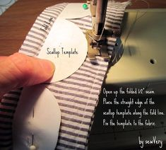 scallop template and sewing instructions