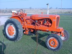 An old Alliis Chalmers tractor......ours was just like this when I was a kid.....fond memories!