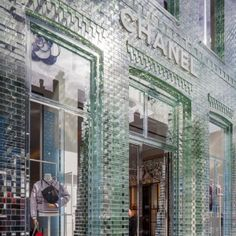 """MVRDV+replaces+Chanel+store's+traditional+facade+with+glass+bricks+that+are+""""stronger+than+concrete"""""""