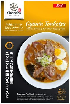 Yummy garlic and beef ramen at shichidon galaxy mall surabaya! Www.shichidon.com