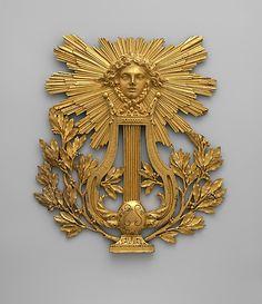 *Panel ornament. Date: 18th century. Culture: French. Medium: Bronze-gilt.