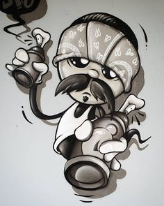 3d Pencil Drawings, Art Drawings Sketches, Cute Drawings, Arte Cholo, Cholo Art, Funny Cartoon Drawings, Cartoon Tattoos, Chicano Drawings, Chicano Art