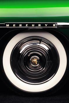 Mercury detail   | classic car retro vintage chrome wheel custom design detail Mercury 1951.