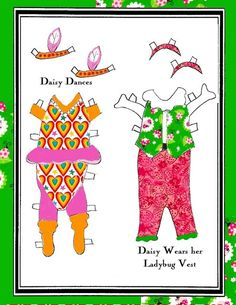 2daisy_dog_dance* 1500 free paper dolls at Arielle Gabriels International Paper Doll Society also free paper dolls at The China Adventures of Arielle Gabriel *
