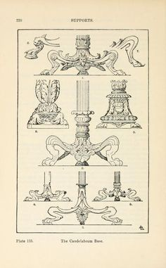 A handbook of ornament Supports The Candelabrum Base pg 220