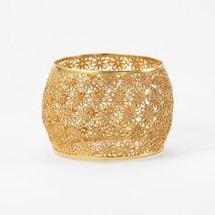 Daisy Filigree Wide Bangle by ISHARYA Jewelry
