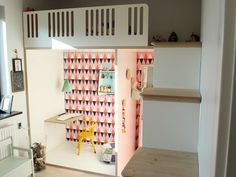 """Fabulous loft / bunk bed for kids with a """"room-within-a-room"""" desk area"""