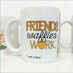 It's #nationalwaffleday everybody!  Celebrate accordingly, waffles and friends all day! http://www.peachyapricotshop.com/  #waffles #leslieknope #wafflesandfriends #parksandrec