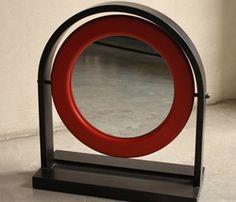 specchio da tavolo ettore sottsass per poltronova 1960 nero design 4