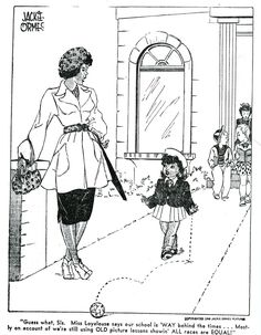 """Jackie Ormes' """"Patty-Jo 'n' GINGER,"""" is a late 1940s comic strip by Jackie…"""