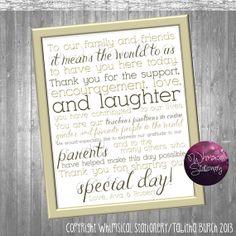 Thank You Sign For Wedding Gift Table : ... Wedding Thanks Gift Table Wedding Tradition DIY Sign Leaves on Etsy, USD