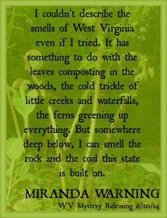 West Virginia mystery releasing West Virginia Day (6/20/14)--Miranda Warning
