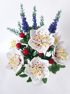 Beaded Flowers Patterns, Christmas Wreaths, Floral Wreath, Leaves, Holiday Decor, Manualidades, Floral Crown, Flower Crowns, Flower Band