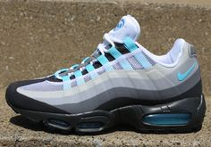 5ad03731d4f9 Nike Air Max 95 No Sew Anthracite Tide Pool Blue Cool Grey Nike Outfits