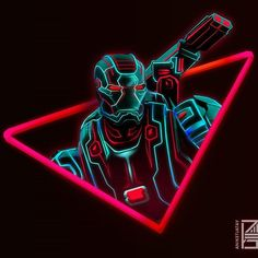 Iron Man Neon - Marvel Wallpapers HD For iPhone/Android Marvel Comics, Marvel Fan, Marvel Heroes, Wallpaper Thor, Neon Wallpaper, Marvel Universe, The Avengers, War Machine, Infinity War