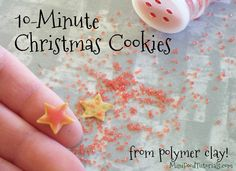 how to make miniature cut out christmas cookies from polymer clay
