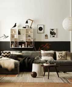 "Love the darker earthy tones... Will need to get me one of those pillows but it should say ""ms. Perfect"""