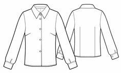 Kostenloses Schnittmuster für eine Bluse nach den eigenen Maßen ❤ mit Anleitung ❤ PDF zum Ausdrucken ❤ ✂ Jetzt Nähtalente.de besuchen ✂