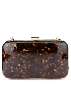M&S Collection Mock Tortoise Shell Clutch