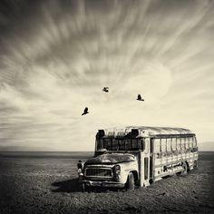 Wasteland - School bus - Vanessa Paxton Creative Photography