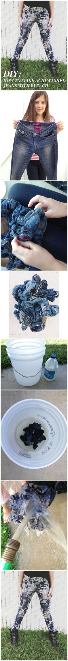 Chic Critique Forum | DIY - Make acid wash jeans in 5 simple steps