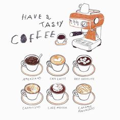 coffee illustration 18 Sensational Single Coffee Makers That Use K Cups Coffee Makers With Thermal Carafe Coffee Drawing, Coffee Painting, Coffee Girl, Coffee Shop, Coffee Lovers, Cappuccino Cafe, Single Coffee Maker, Pinterest Instagram, Buch Design
