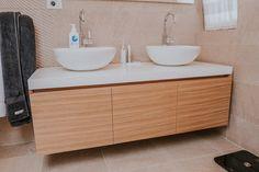 Downstairs bathroom #bathroom #downstairs #modern #mdf #specialforbathroom #material #highpremium #saramobdesign #romania Project, Downstairs Bathroom, Design Furniture, Double Vanity, Home Improvement, House, Houses, Modern, Home