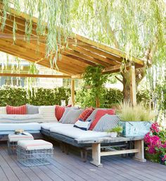 Gorgeous pergola space