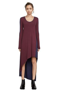 Miney Color-Blocked Asymmetrical Dress Asymmetrical Dress, Online Purchase, Feminine, Tunic Tops, Glamour, My Style, Color, Collection, Dresses