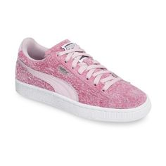 Women's Puma Suede Classic Elemental Sneaker (94 CAD) ❤ liked on Polyvore featuring shoes, sneakers, purple, suede sneakers, suede trainers, puma footwear, purple sneakers and purple shoes