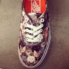 Patchwork of lolcats #vans #ss14