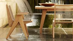 The latest from the esteemed designer, Rose Tarlow, resides outside. Laced Premium Teak Cat's Cradle Dining Chairs & Table. Sutherland by Rose Tarlow Melrose House