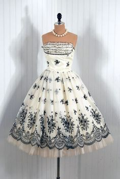 1950's style cocktail dresses
