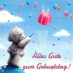 Teddybären sammelt ein Geschenk: Alles Gute zum Geburtstag!