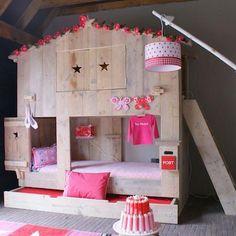 Sleep well little girls Kidsroom, Girls Bedroom, Bunk Beds, Ladder Decor, Toddler Bed, Nursery, Projects, Inspiration, Furniture
